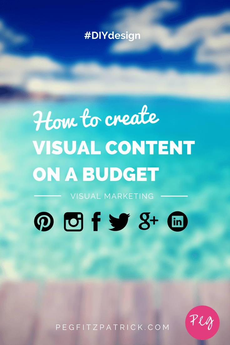 If you're wondering how to create visual marketing on a budget, you've come to the right place!  DIY design tips and tools to create visual content that you can be proud of on a budget that you can live with.