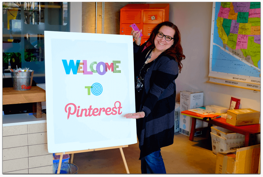 Peg Fitzpatrick at Pinterest Headquarters
