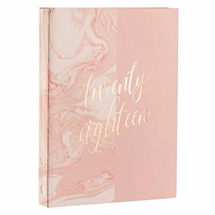2018 Pink Marble planner